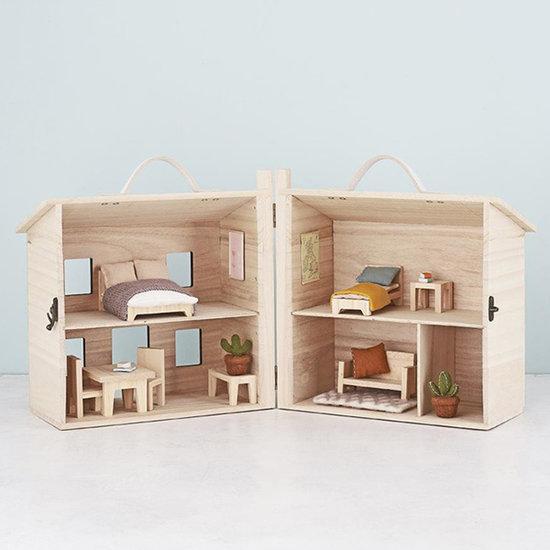 Olli Ella Dollhouse bedroom single bed - Olli Ella