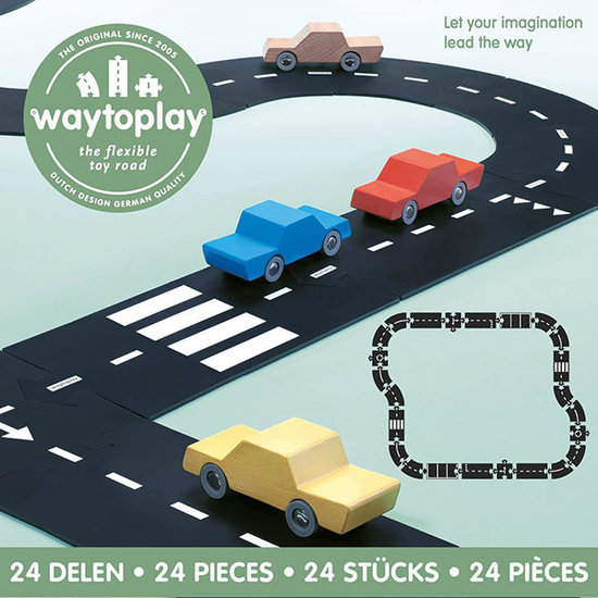 Waytoplay Waytoplay Straße - Autostraße 24 Teilig