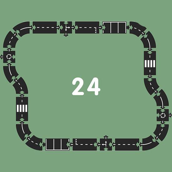 Waytoplay Waytoplay autobaan 24 delig - snelweg
