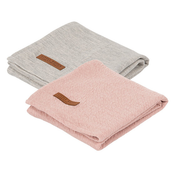 Little Dutch Swaddle 70X70 - Pure Pink /Ochre (Set Of 2 Designs)