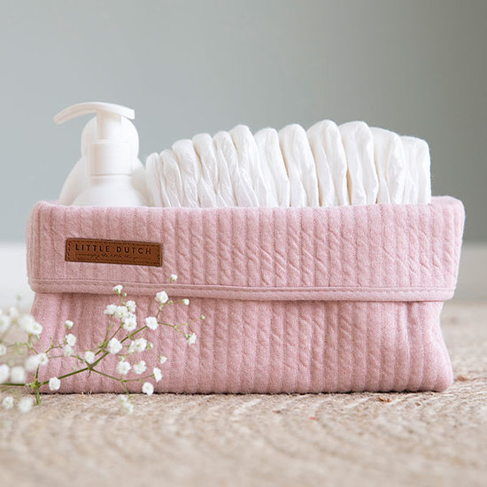 Little Dutch Baby Storage Basket, Large - Pure Pink