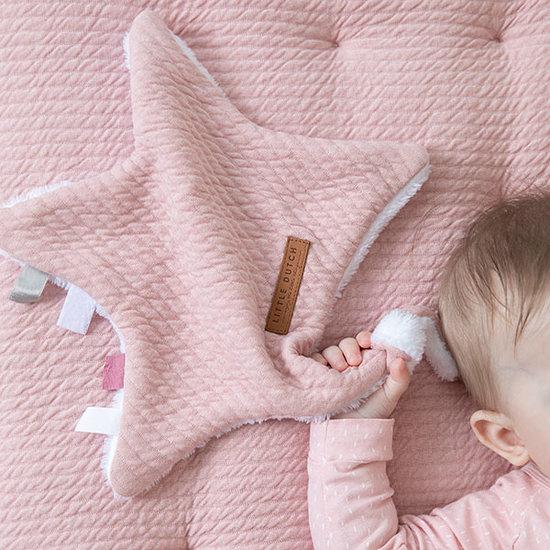 Little Dutch Little Dutch knuffeldoekje ster - Pure pink