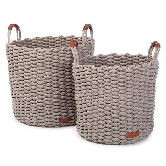 Kidsdepot Storage baskets Korbo Grey Large 2pc Kidsdepot