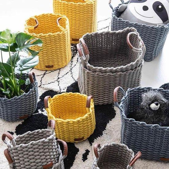 Kidsdepot Storage baskets Korbo Yellow Medium 2pc Kidsdepot