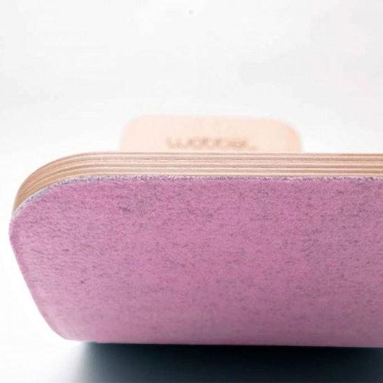 Wobbel Balance Board Wobbel Pro met vilt roze