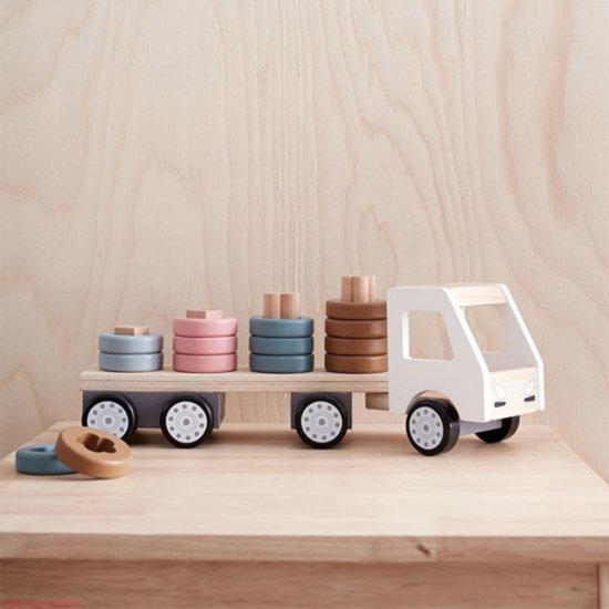 Kid's Concept Vrachtwagen met ringen Aiden - Kids Concept