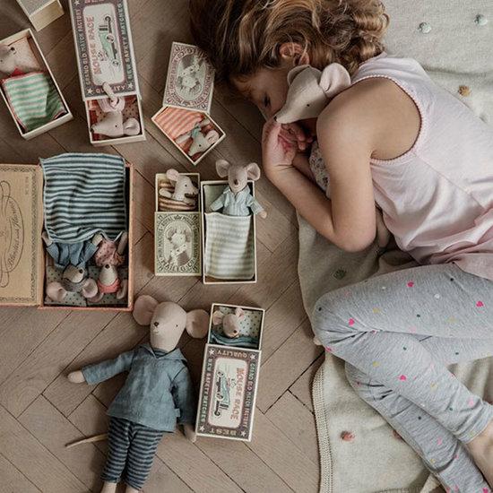 Maileg Maileg baby muis Sleepy Wakey in doosje - meisje