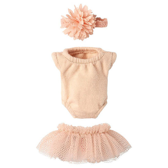 Maileg Maileg Micro & Mouse gymsuit set pink