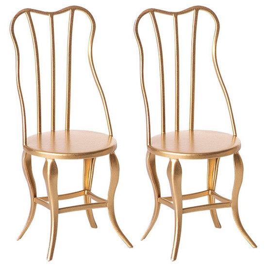 Maileg Maileg Vintage stoelen goud micro 2 stuks