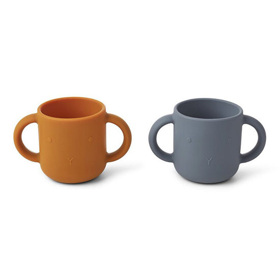 Liewood Drinking cups Gene cup Rabbit blue wave - Liewood
