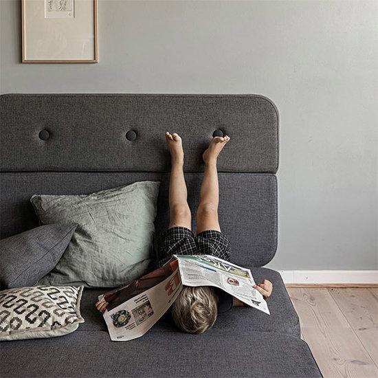 by KlipKlap by KlipKlap KK 3 Fold sofa couch blue grey