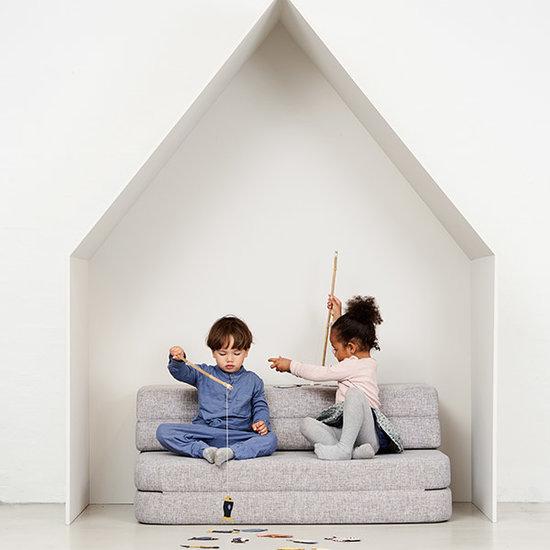 by KlipKlap by KlipKlap KK 3 Fold Sofa Couch hellgrau