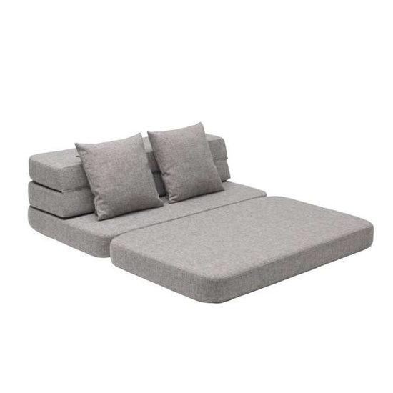 by KlipKlap by KlipKlap KK 3 Fold XL Canapé divan gris clair