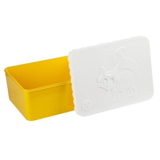 Blafre Lunchbox - brooddoos vos geel - Blafre