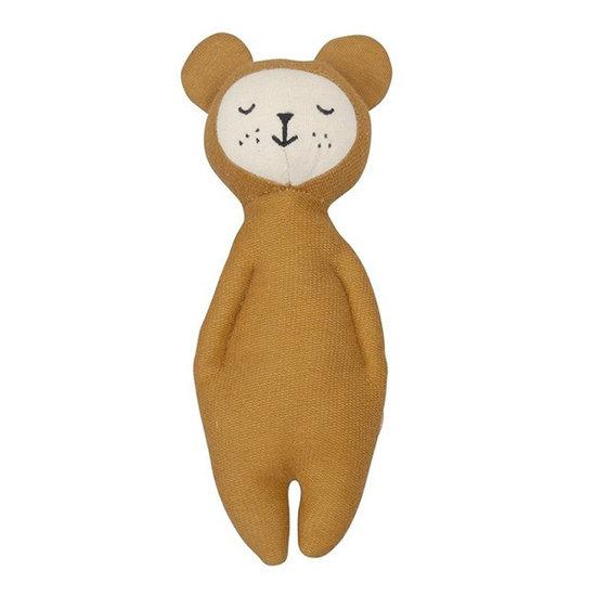 Fabelab Rammelaar knuffel Bear - Fabelab