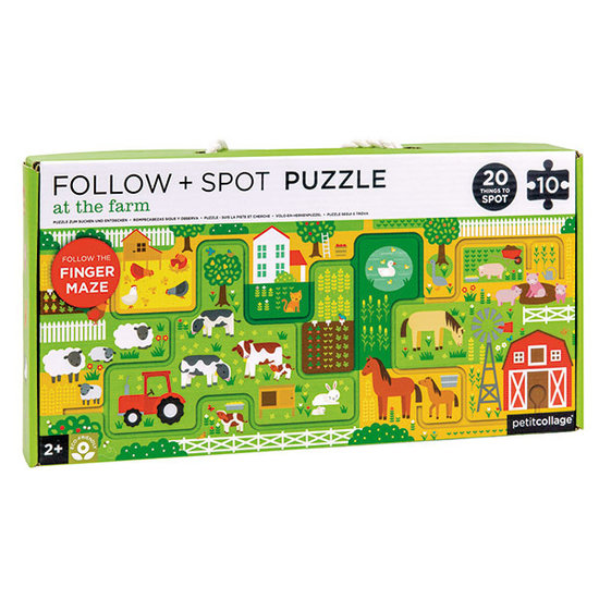 Petit Collage Petit Collage suchen und finden Puzzle Bauernhof