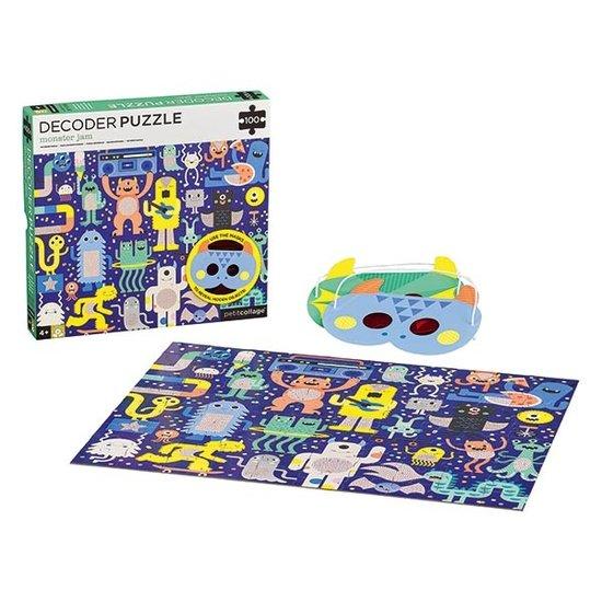 Petit Collage Petit Collage Decoder Puzzle Monster Jam 100T