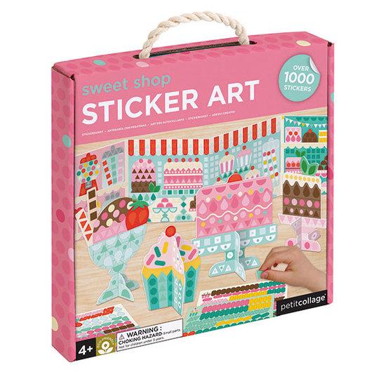 Petit Collage Knutselpakket stickers zoetigheden - Petit Collage