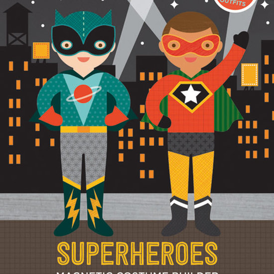 Petit Collage Magneetboek Dress Up Superhelden - Petit Collage