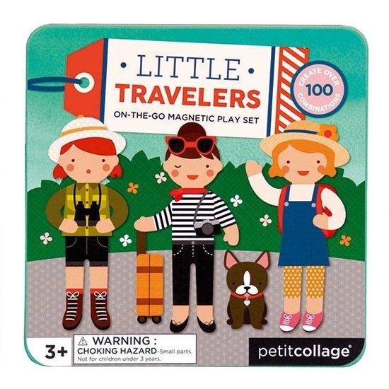 Petit Collage Magneetboek kleine reizigers - Petit Collage