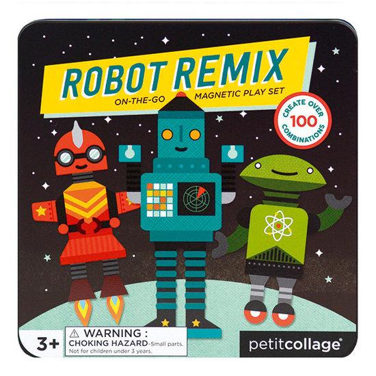 Petit Collage Magnetbuch Roboter Remix - Petit Collage