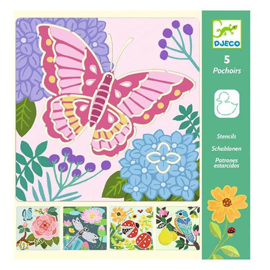 Djeco Djeco stencils garden wings