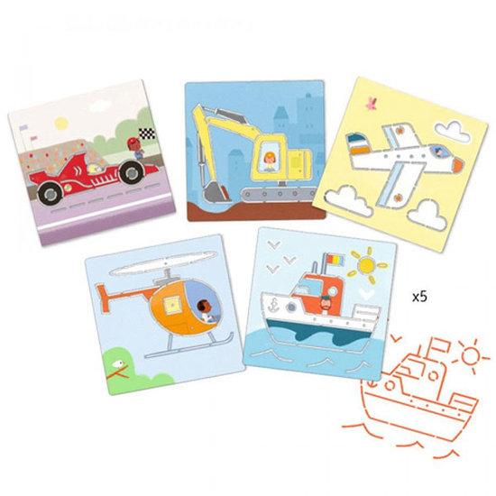 Djeco Djeco tekensjablonen voertuigen