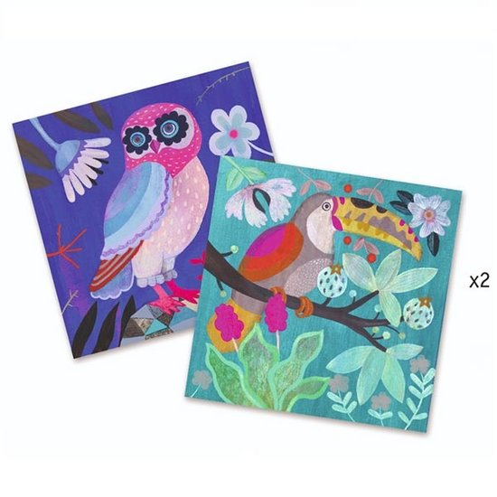 Djeco Bastelset Paillettenkarten Flamboyant - Djeco