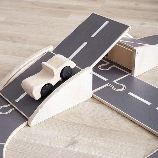 Kid's Concept Kids Concept wooden car track Aiden 18-pieces