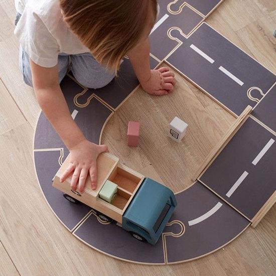 Kid's Concept Kids Concept route en bois Aiden 18 pièces