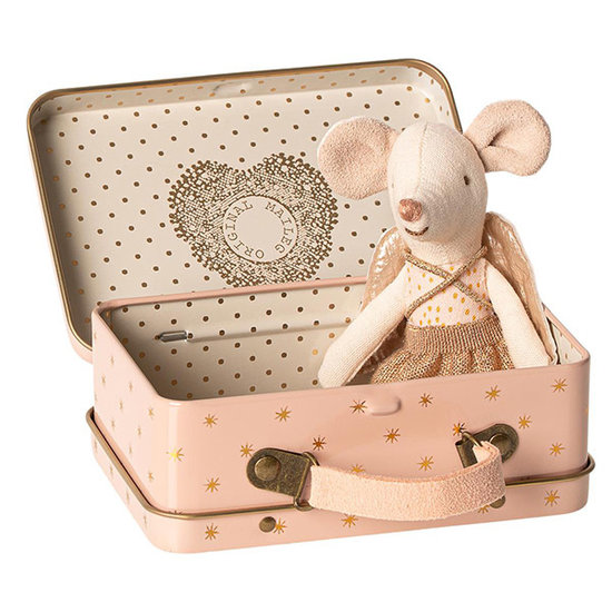 Maileg Maileg guardian angel mouse in suitcase