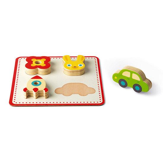 Janod speelgoed Memory spel - voelspel vormen - Janod