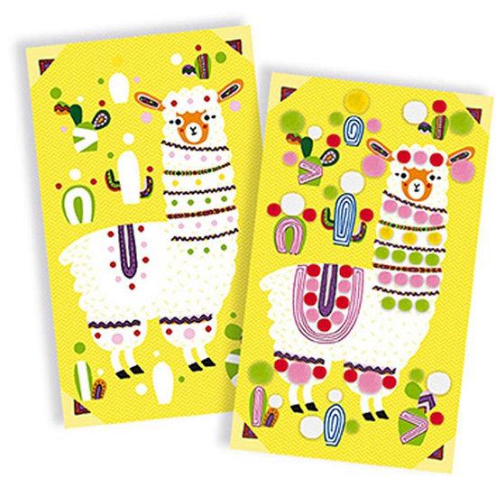 Janod speelgoed Craft set pompom lamas - Djeco