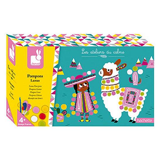 Janod speelgoed Set créatif lamas pompons - Janod