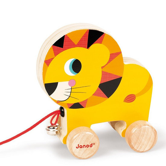 Janod speelgoed Pull along toy Circus lion - Janod