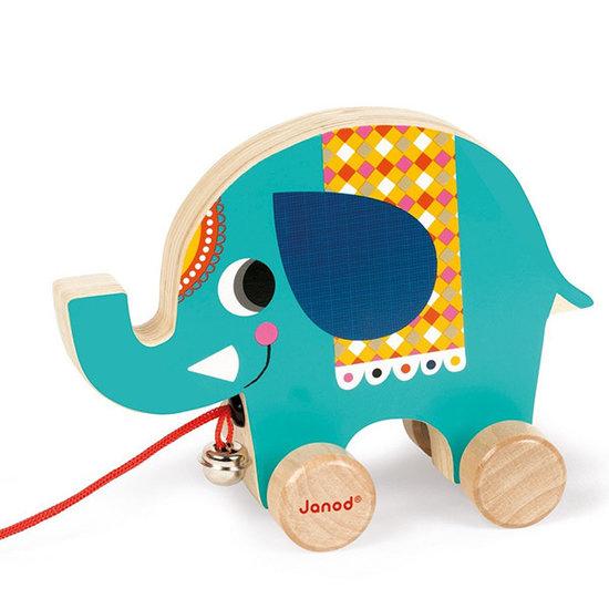 Janod speelgoed Jouet à tirer éléphant de cirque - Janod