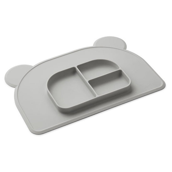 Liewood Placemat met bord Oliver Dumbo grey - Liewood