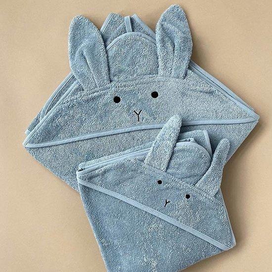 Liewood Badcape Albert Rabbit sea blue 70cm - Liewood