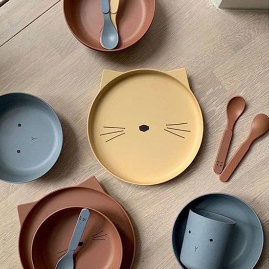 Liewood Kinder-Geschirr Cat terracotta - Liewood