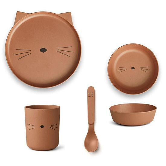 Liewood Kinderservies Cat terracotta - Liewood