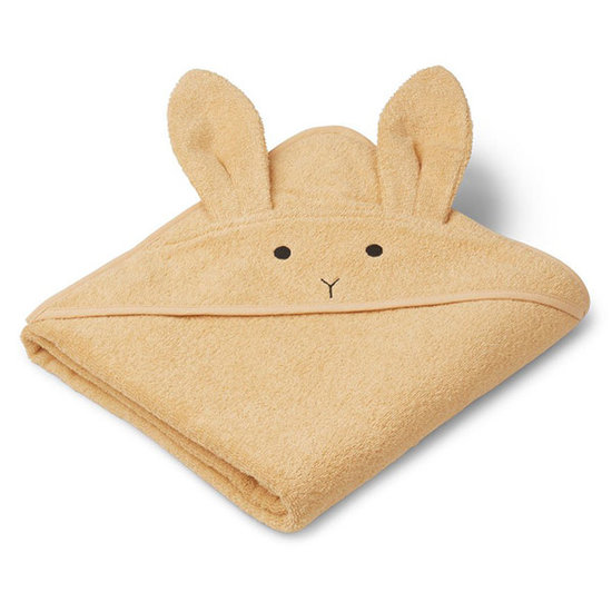 Liewood Baby towel Augusta Rabbit smoothie yellow 100cm Liewood