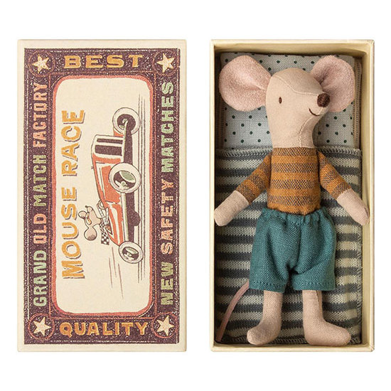 Maileg Maileg big brother mouse in box ocher