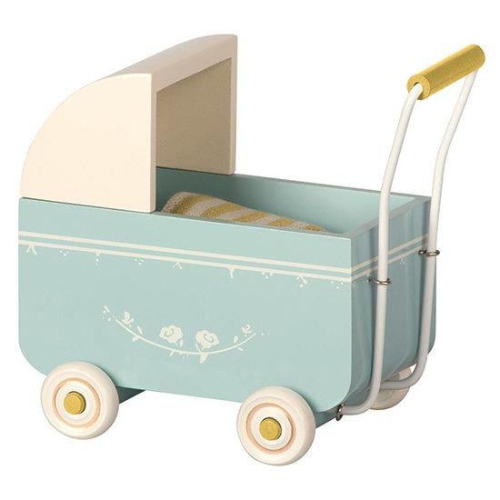 Maileg Maileg kinderwagen MY blauw