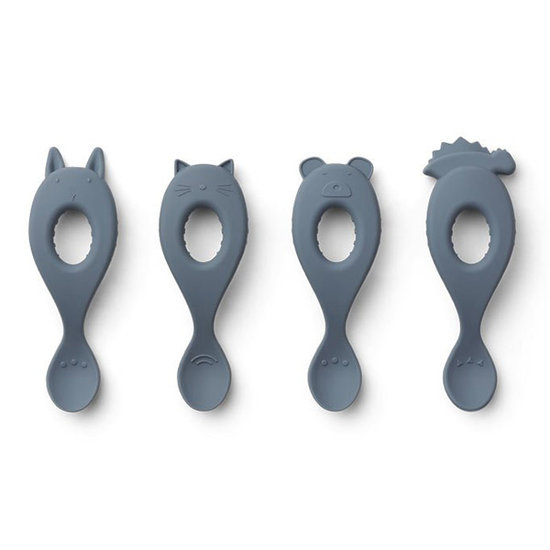 Liewood Liewood Liva silicone spoons Blue wave - 4 pack