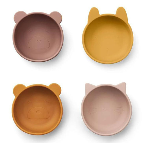 Liewood Liewood Iggy silicone bowls 4 pack - rose mix