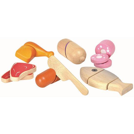 Plan Toys Plan Toys - vlees en vis - speelgoed eten +18M