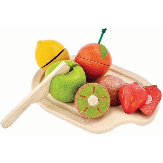 Plan Toys Plan Toys - fruits en bois à découper +18M