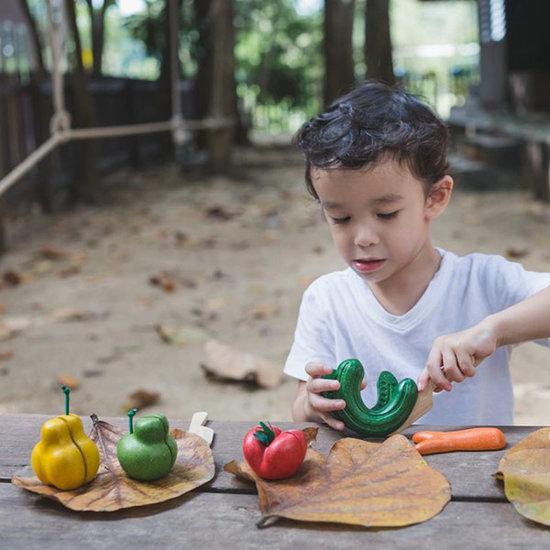 Plan Toys Kromme groenten en fruit speelset - Plan Toys