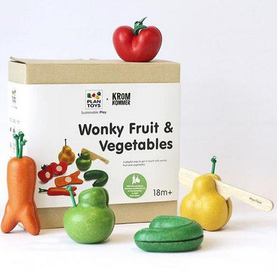 Plan Toys Set de jeu de fruits et légumes tordus - Plan Toys