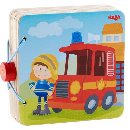 Haba Houten babyboek Brandweer - Haba